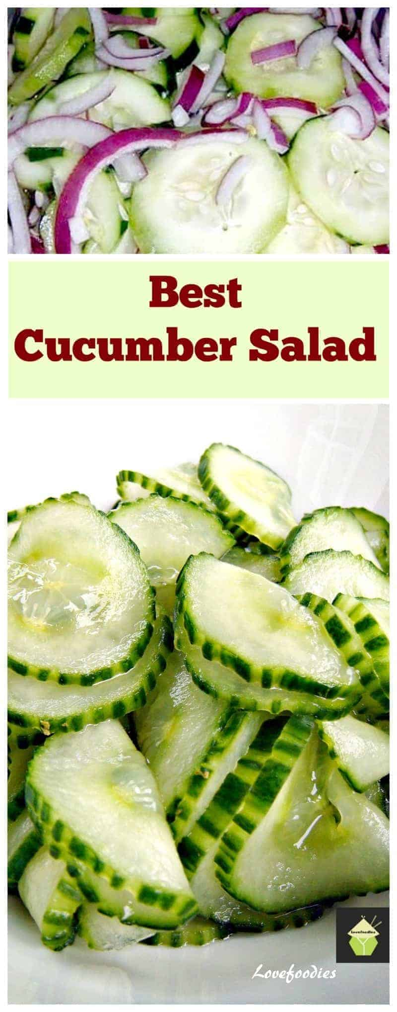 Best Cucumber Salad Lovefoodies