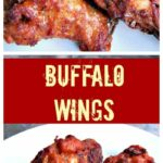 Buffalo Wings With A Blue Cheese Dip. Simply delicious!