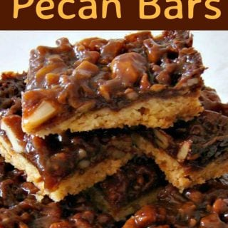 Caramel Pecan Bars. These are so addictive! Easy to make and always popular!