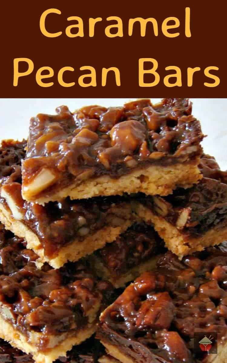 ... introduce to you Jeanette! Here, Jeanette has made Caramel Pecan Bars