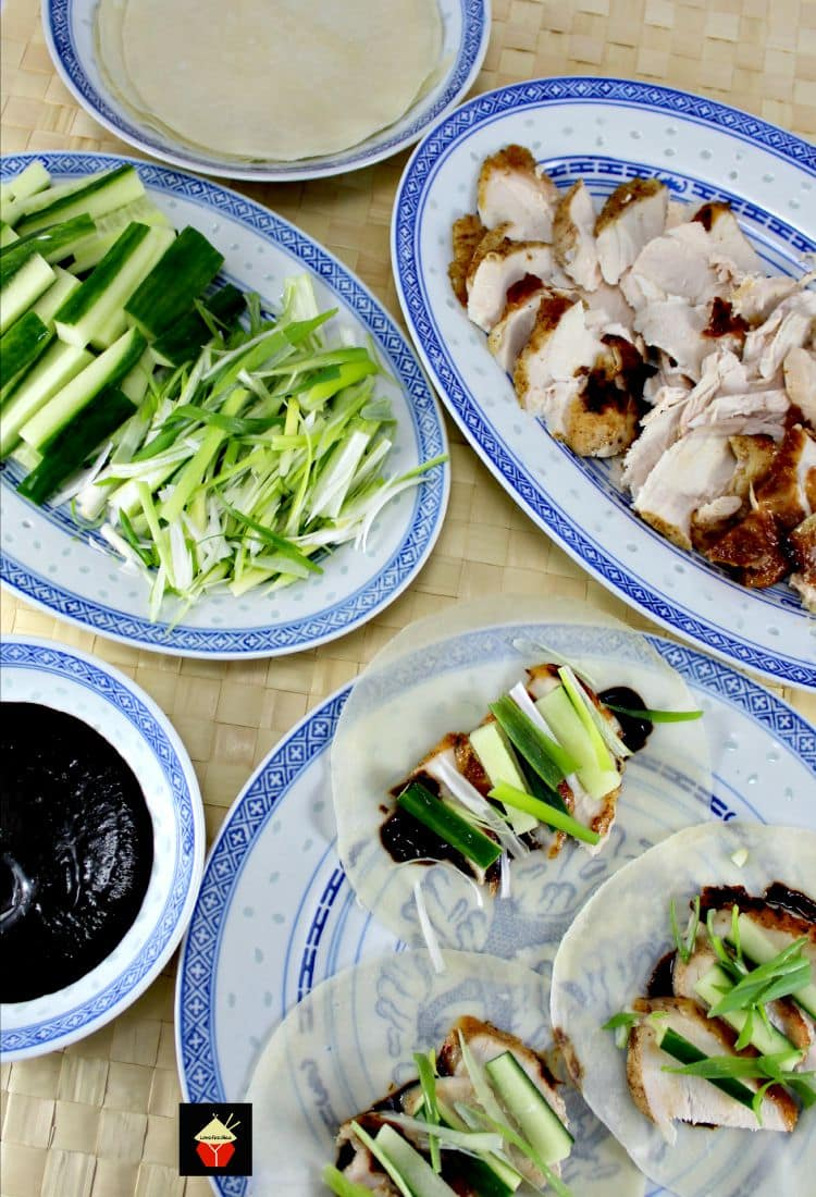 Chinese Roast Chicken is a nice aromatic tasting dish with Chinese flavors, serve as a dinner or appetizer using some lovely pastry wraps. Delicious!