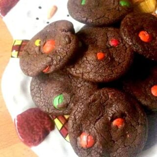 Chocolate Brownie M and M Cookies