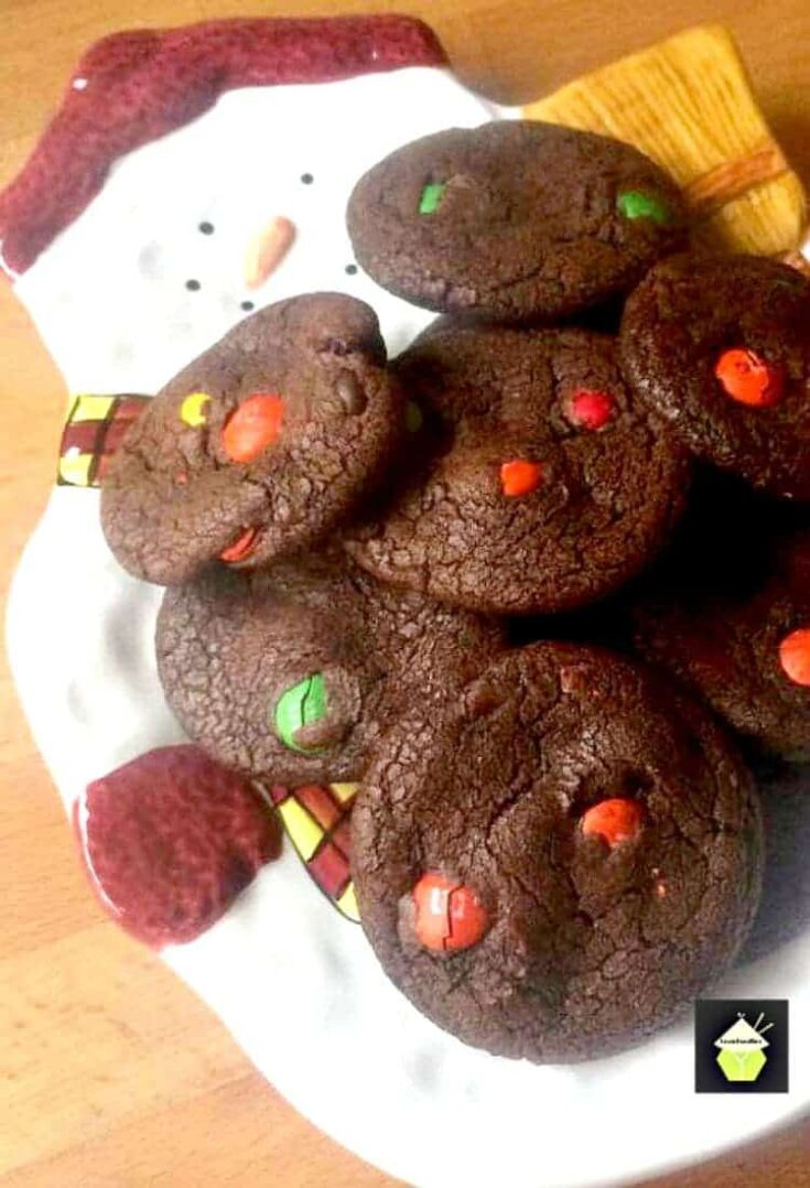 Chocolate Brownie Cookies with MNs PTB