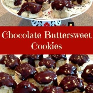 Chocolate Buttersweet Cookies. Delicious cookies filled with a nutty cream cheese filling and frosted with chocolate.