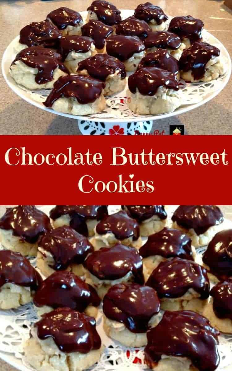 Chocolate Buttersweet Cookies. Delicious cookies filled with a nutty coconut cream cheese filling and frosted with chocolate.