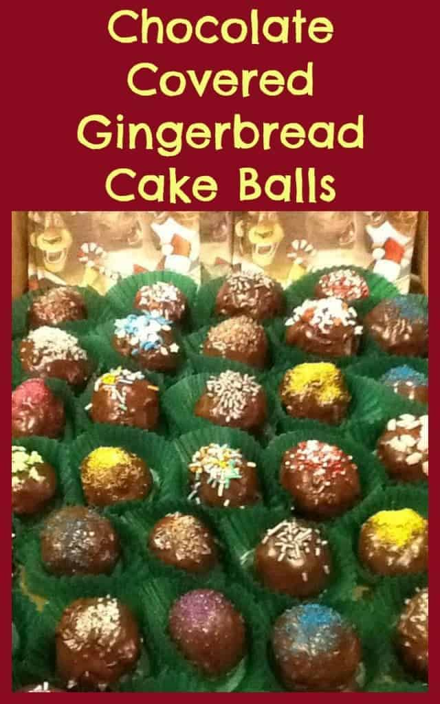 Chocolate Balls Cake Decoration : Chocolate Covered Gingerbread Cake Balls   Lovefoodies