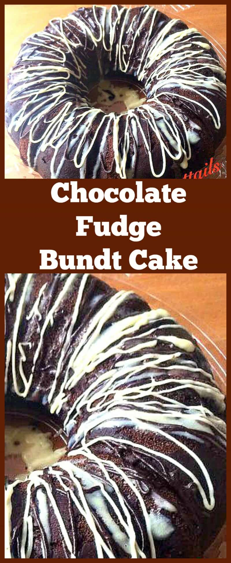 Chocolate Fudge Bundt Cake. A very easy recipe for a super moist and soft cake with a yummy Chocolate ganache topping. This is so good! #cake #chocolate