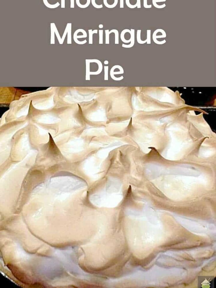 Chocolate Meringue Pie. Easy to make and looks fabulous!