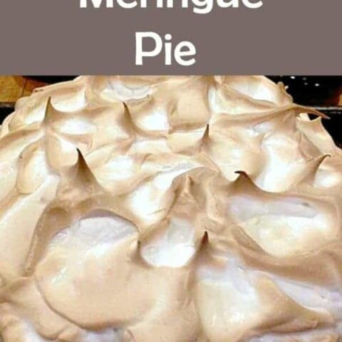Chocolate Meringue Pie. Easy to make and looks fabulous!