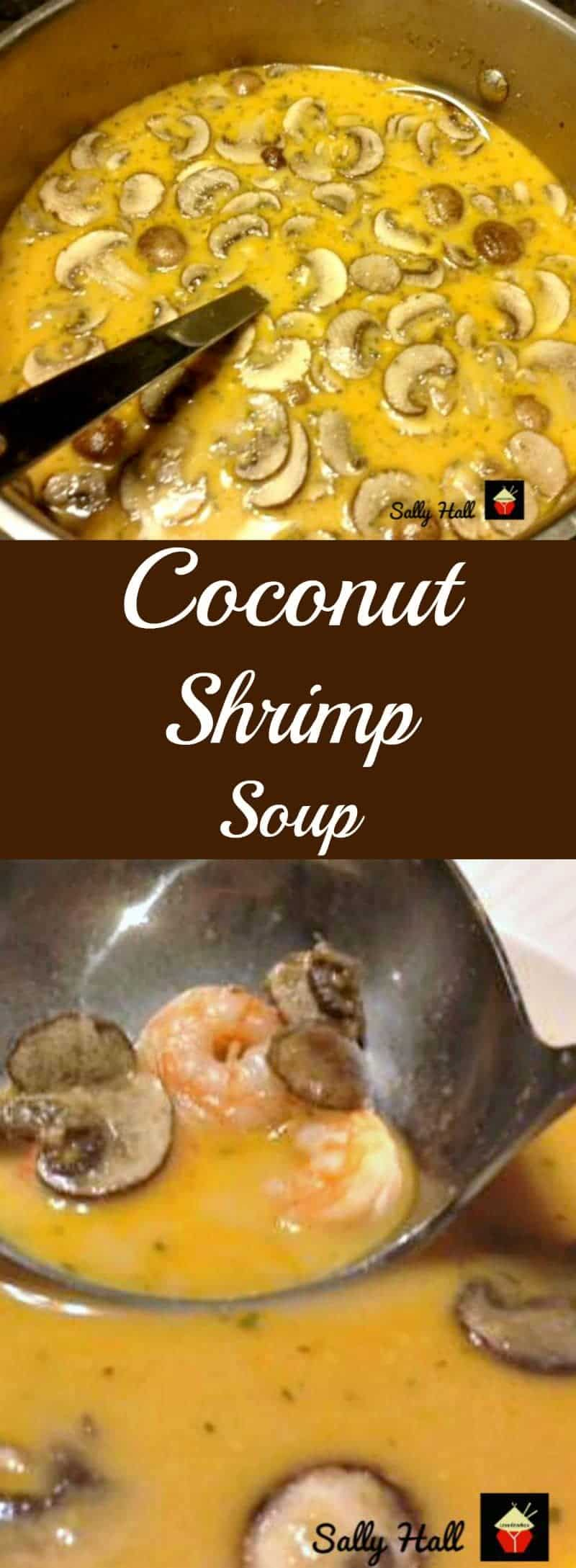 Coconut Shrimp Soup with the flavors of Asia. This is a wonderful warming soup, suitable as an appetizer or main