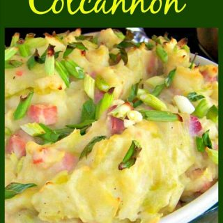 Easy Colcannon with Bacon! This is a delicious, hearty dish, served as a side or a main. Very delicious with the bacon of course!