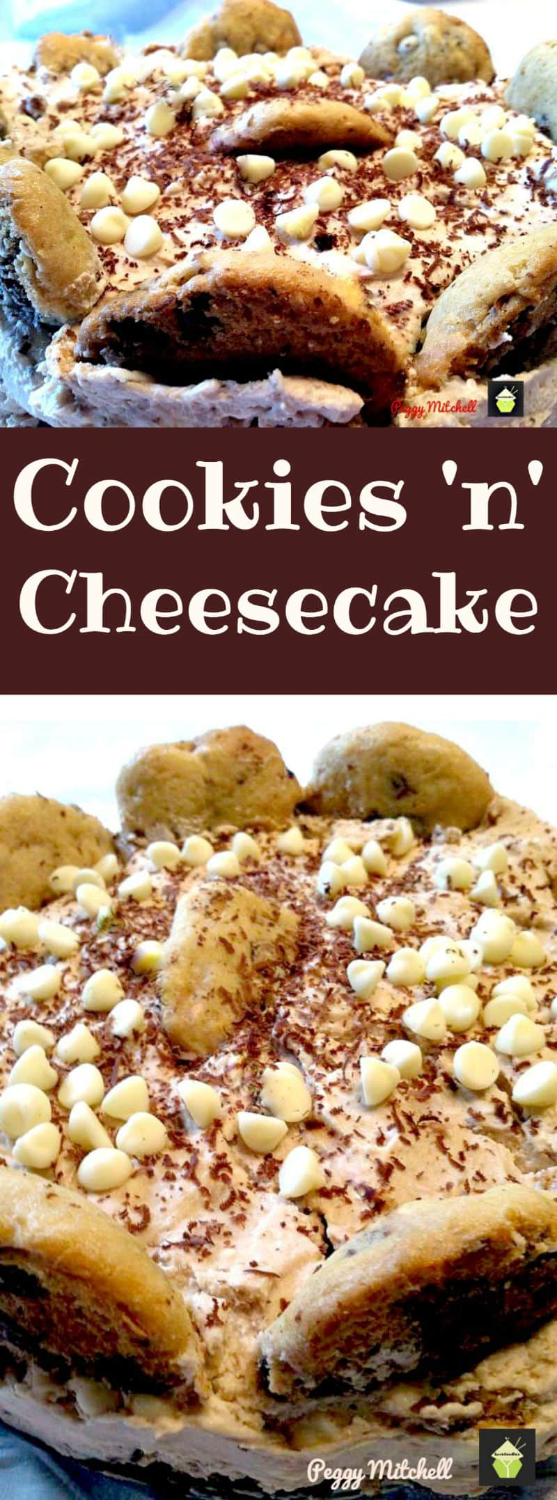 Cookies n Cheesecake. A fun and easy No Bake chocolate and cookie cheesecake and perfect for Cookie Monsters and chocolate fans too!