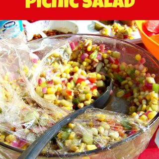 Corn & Cucumber Picnic Salad. A very simple yet great tasting salad