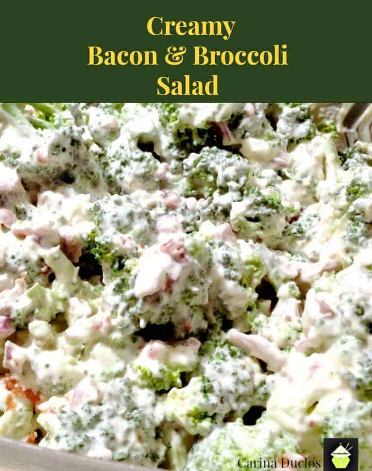 Creamy Bacon & Broccoli Salad. Quick and very easy recipe and always popular!