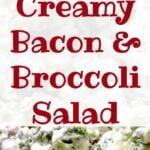 Creamy Bacon & Broccoli Salad. Quick and very easy recipe and always popular!
