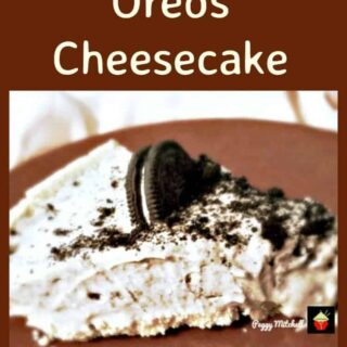 Creamy Oreos Cheesecake. For all you Oreos fans out there, this is great for any occasion and always a hit with a crowd. No Bake and super easy to make!