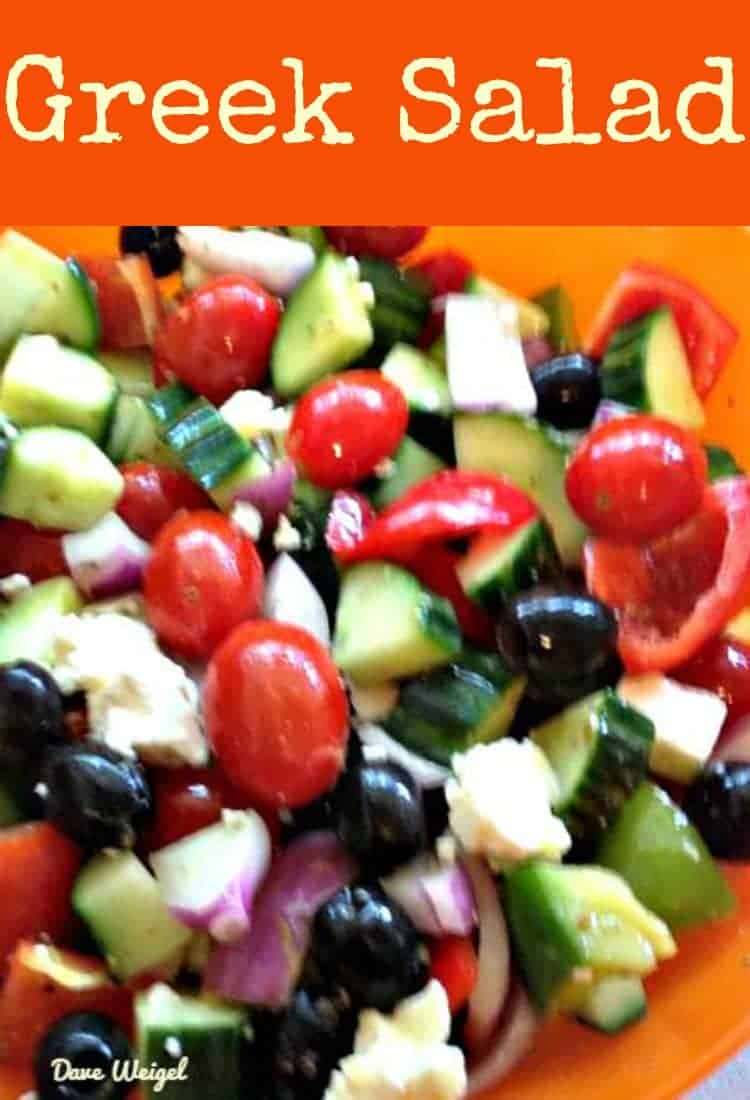This Greek Salad is a very simple yet full of flavor dish which always goes well with outdoor eating, pasta meals, or indeed an appetizer, side dish or main!