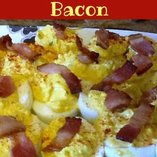 Deviled Eggs With Bacon. A really easy recipe and of course that bacon is fantastic with the egg!