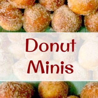 Donut Minis - So cute! Get creative and dip them in chocolate or icing, or just roll them in sugar & cinnamon.