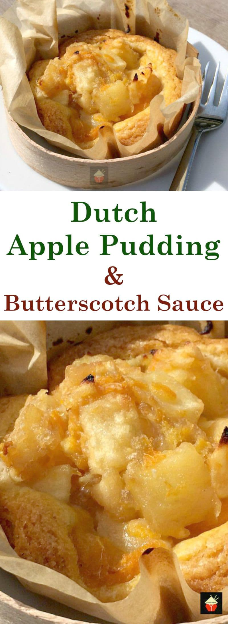 Dutch Apple Pudding with Butterscotch Sauce, this is a delicious dessert, wonderful served warm. Lovely chunks of apple, laced with cinnamon and then served with a drizzle of warm butterscotch sauce. So Yummy!