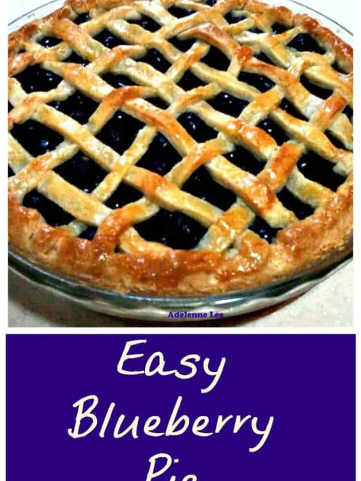 Easy Blueberry Pie is delicious served warm or chilled and perfect with a blob of ice cream too! Freezer friendly and very easy to follow recipe.
