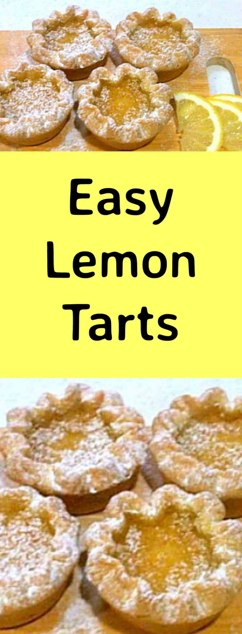 Easy Lemon Tarts. A very easy recipe and freezer friendly too!