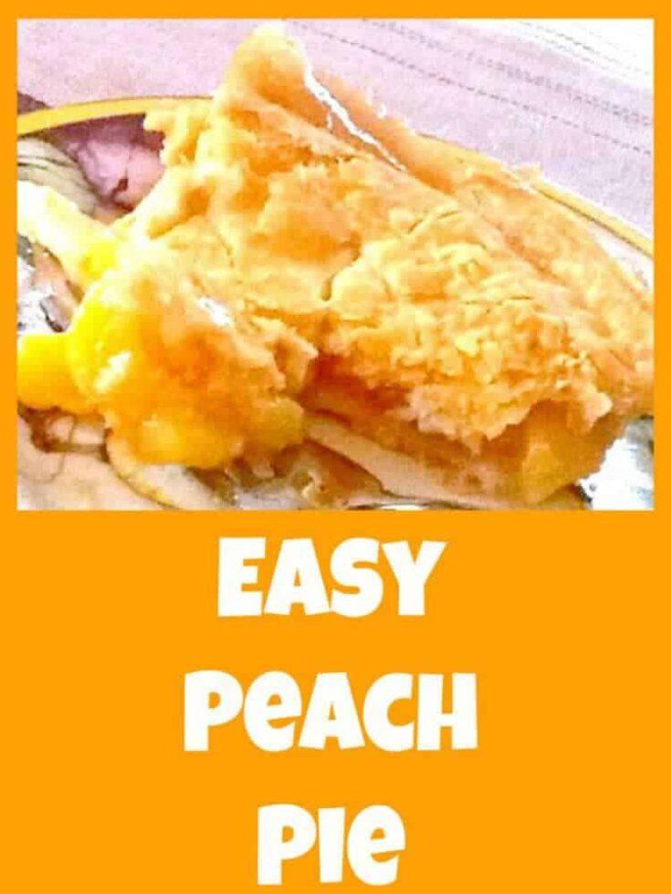 Easy Peach Pie 4