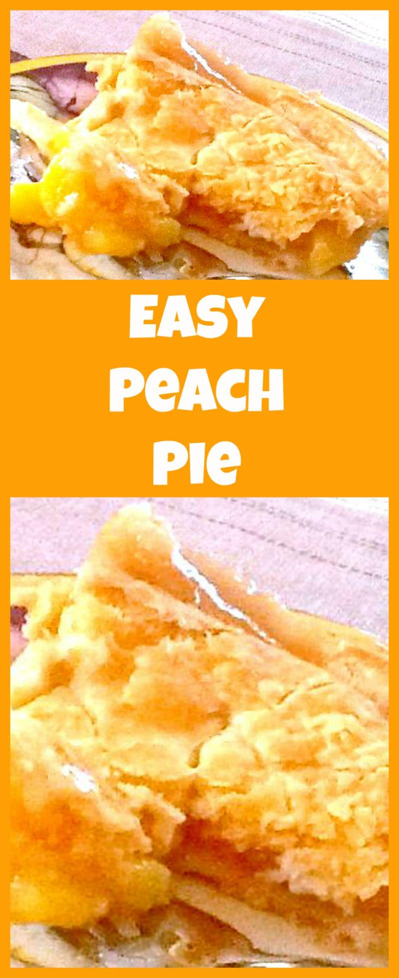 Homemade Peach Pie. A wonderful recipe all made from scratch with a delicious crispy flaky pastry.
