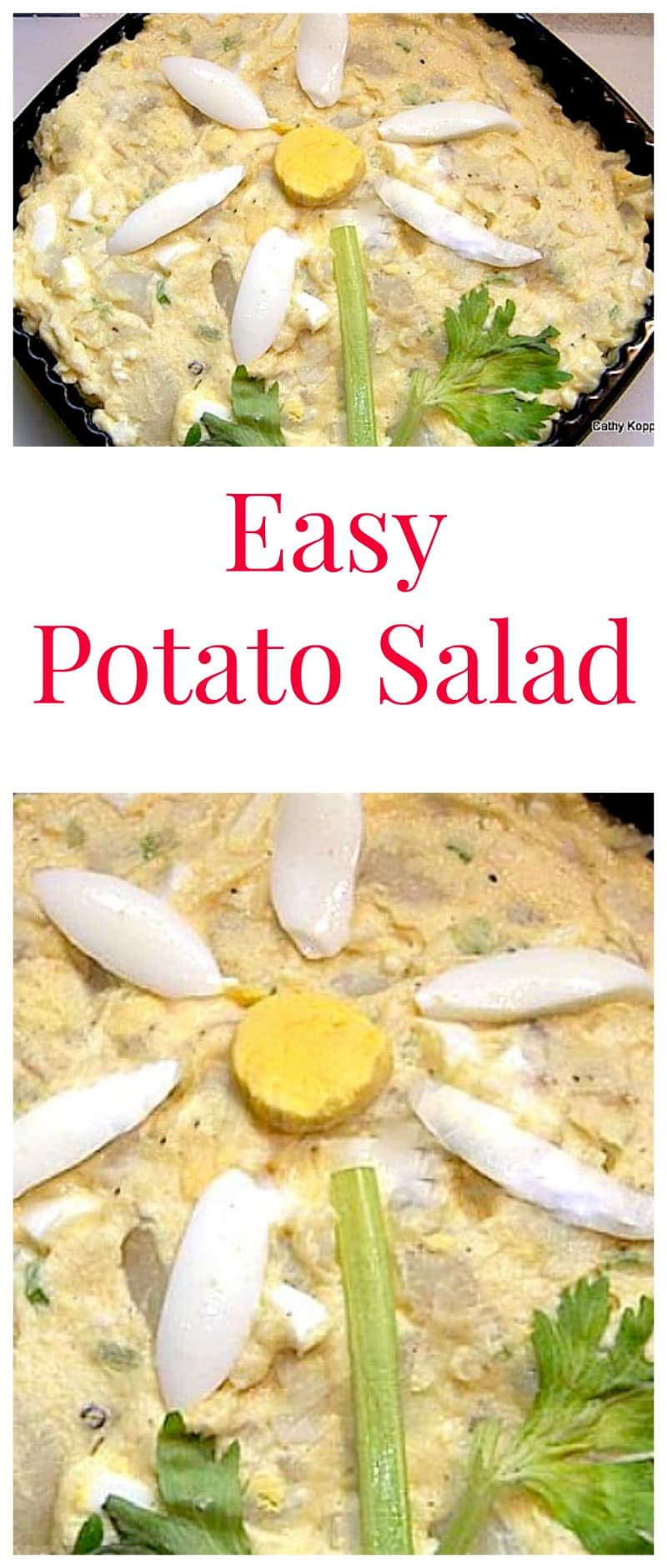 Easy Potato Salad. Lovely flavors and always fun with a pattern!