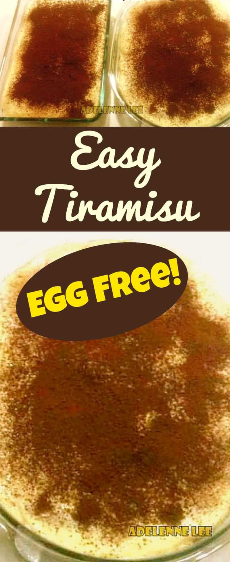 Easy Tiramisu. A very simple recipe with great results! Also egg free.