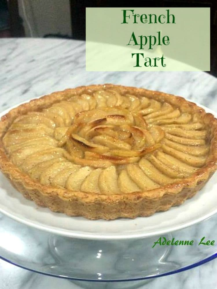 French Apple Tart. This is a wonderful dessert, best served chilled with some whipped cream and a nice cup of tea!