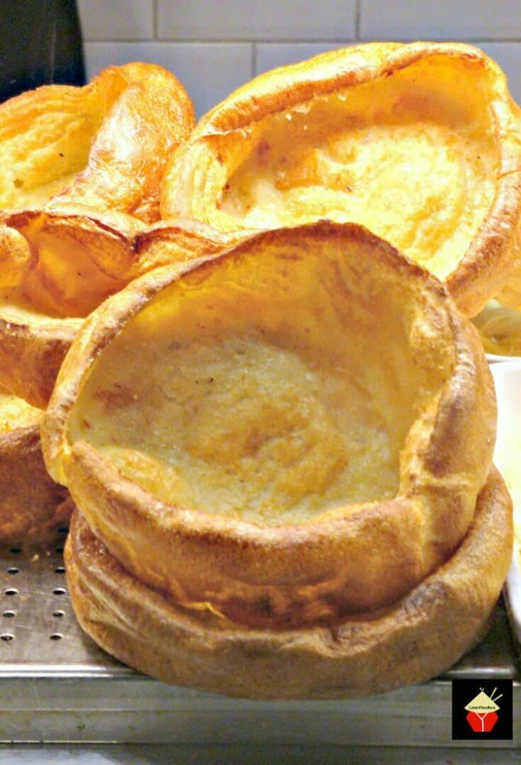 Yorkshire Pudding, a.k.a. popovers are so delicious! Serve as part of a main meal with lots of gravy, or as an appetizer and fill them with goodies. You can also serve these as a dessert, adding some nice fruits or pie filling and ice cream! You decide. They are so yummy! Make in one pan or mini muffins.