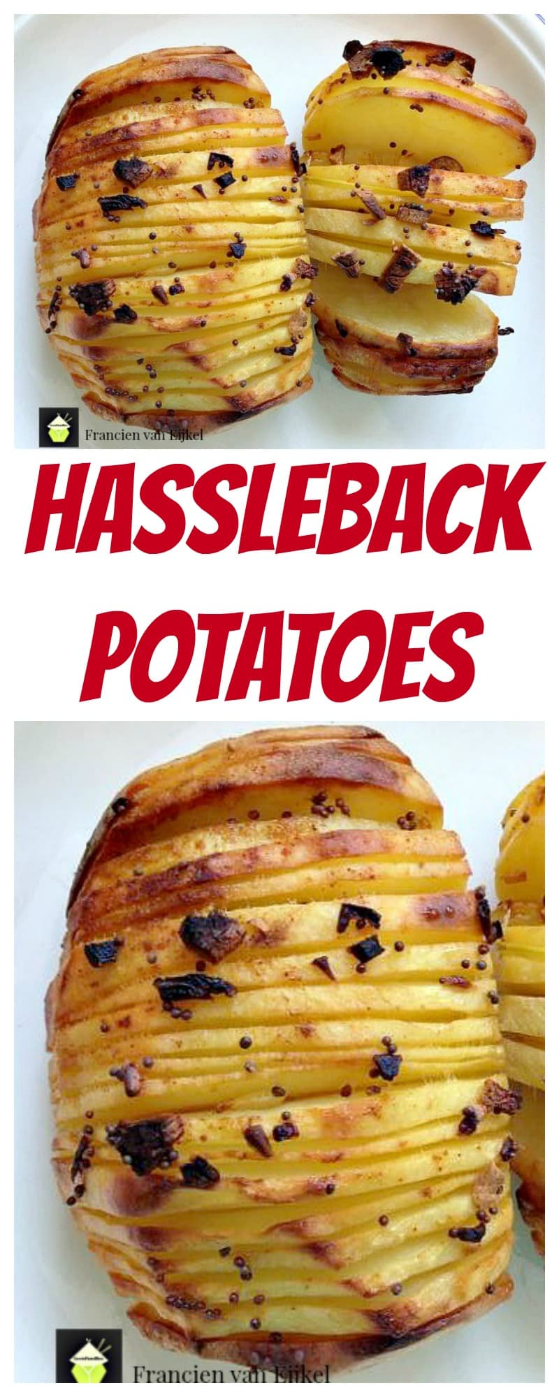 Hassleback Potatoes - Simple recipe, In the oven or on the grill (in foil) and add whatever flavours you like too! even a blob of sour cream or mayo on the top when they're done.