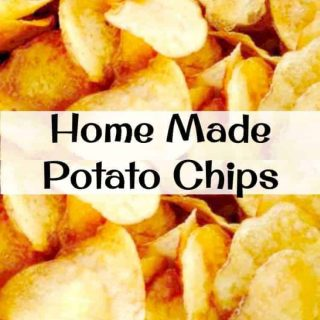 Home Made Potato Chips - Make your own and be as creative as you like with your flavourings! Seasoning suggestions in the recipe for you.