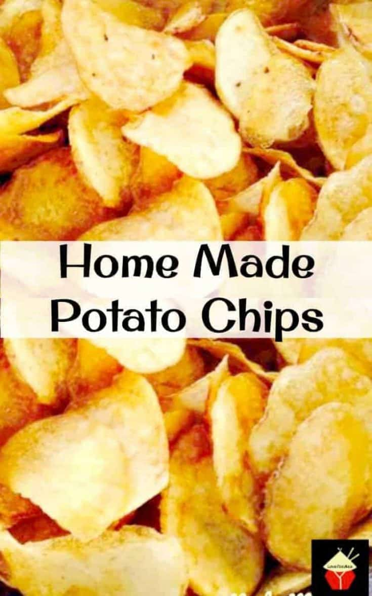 Home Made Potato Chips - Make your own and be as creative as you like with your flavorings! Seasoning suggestions in the recipe for you.