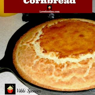 Homemade Southern Gal Cornbread, a traditional family recipe with no box mixes and choose for sweetened or not! Cooked in a skillet with bacon drippings.