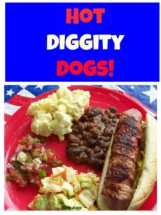 Hot Diggity Dogs! Cheesy filled Bacon Wrapped Hot Dogs... yes, these are always a hit and easy to prepare too!