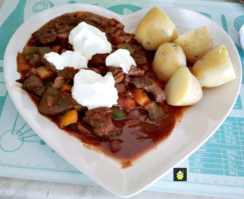 Hungarian Goulash , a very simple and tasty recipe, made from scratch. Slow cooker or stove top, you choose!