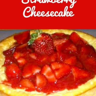 Italian Strawberry Cheesecake. A lovely family recipe just like mama used to make!