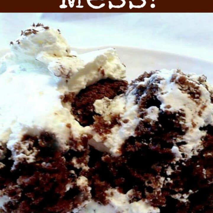 Kahlua Mess..This is one awesome dessert! A delicious chocolate trifle laced with Kahlua throughout. Easy to make cake recipe too.