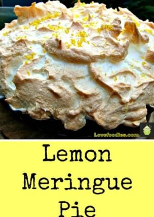 Lemon Meringue Pie. A nice easy recipe with a perfect balance of lemon with sweet meringue. Always popular at family get togethers!