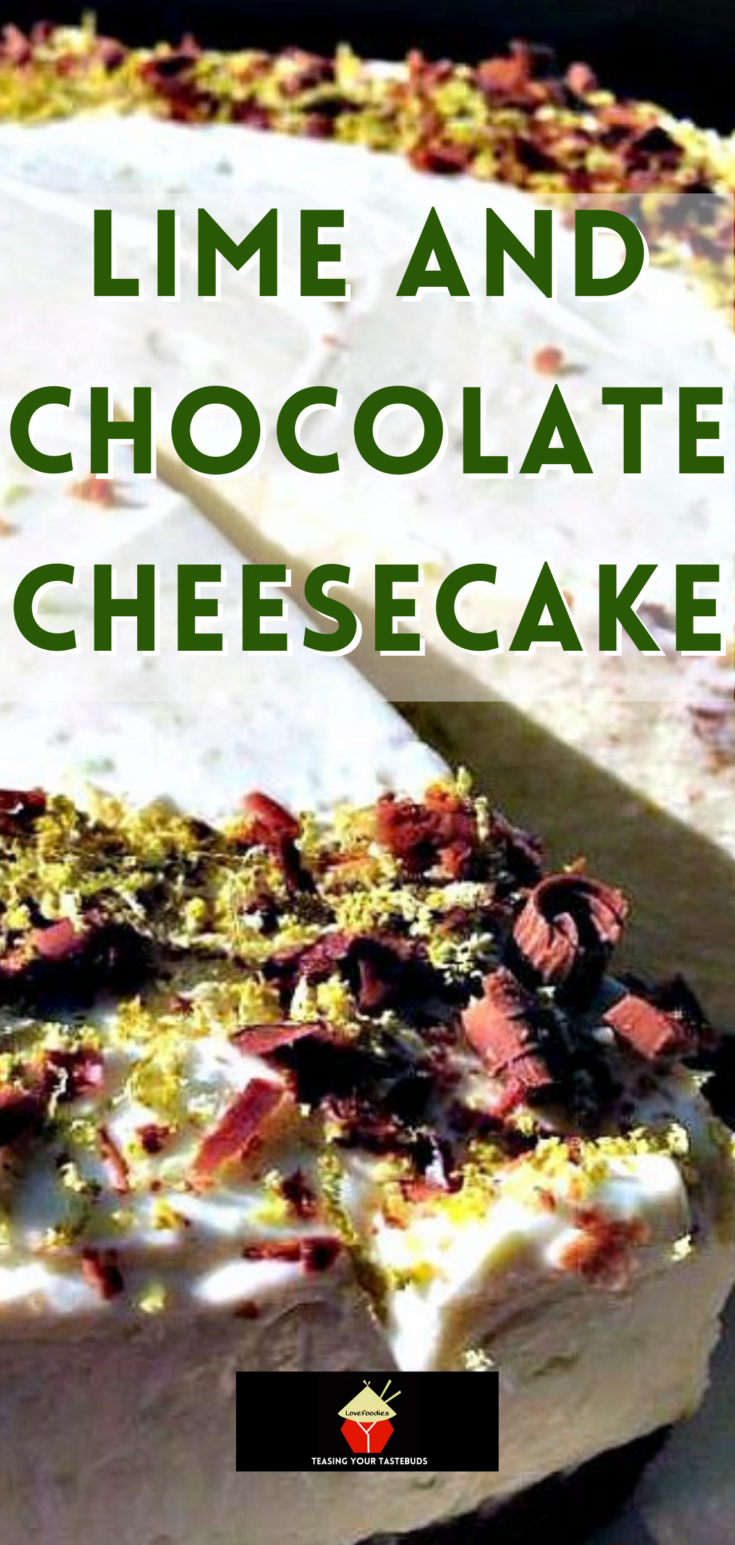 Lime and Chocolate CheesecakeP1