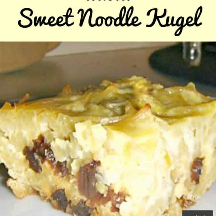 Pastieri, a.k.a Sweet Noodle Kugel.A really easy and delicious traditional family recipe, using pasta noodles, baked in a delicious sweet custard. Economical and simple to make.