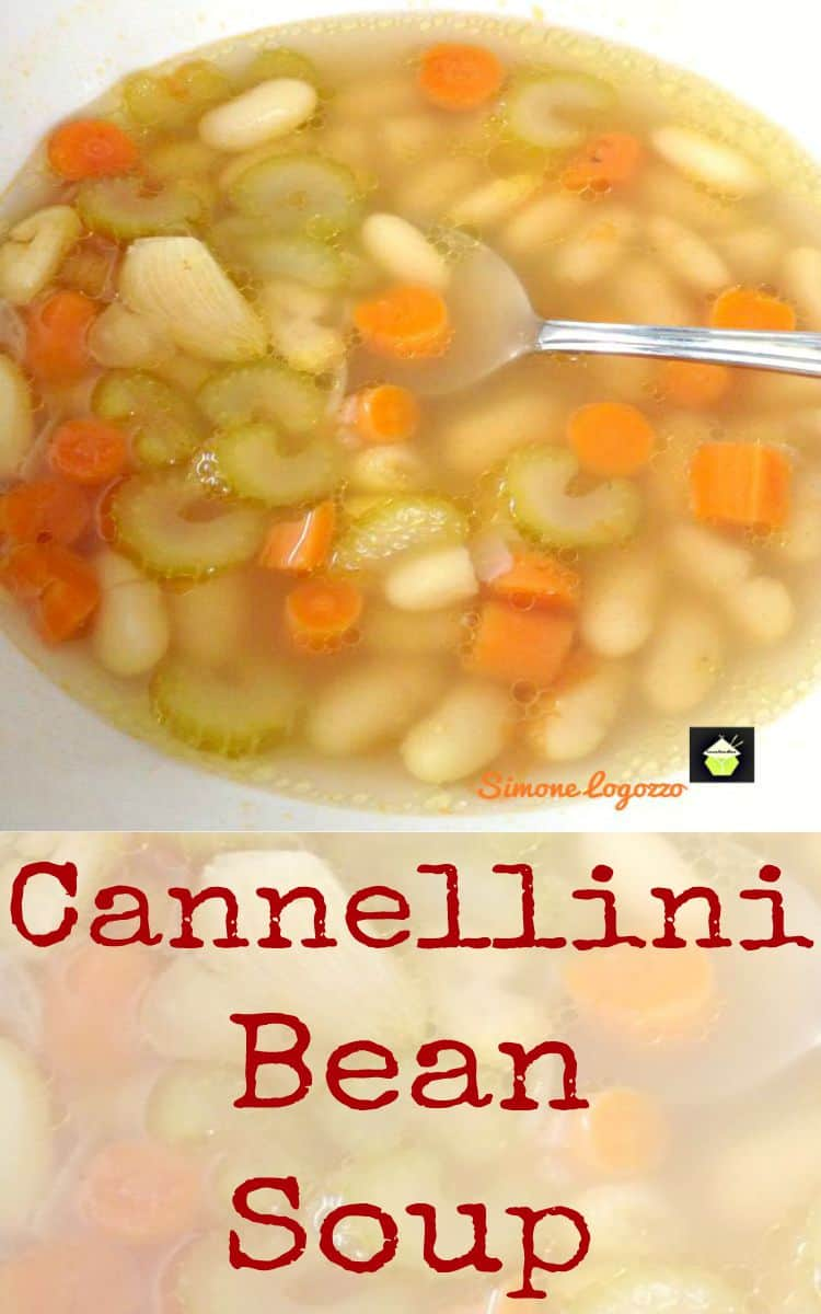 Minestra di Fagioli, Cannellini Bean Soup . A great tasting soup using wonderful ingredients