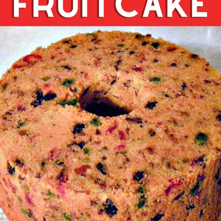 Mom's Fruit cake, a great family recipe passed down the generations, soft textured cake loaded with dried fruits and comes with a delicious pineapple glaze recipe!