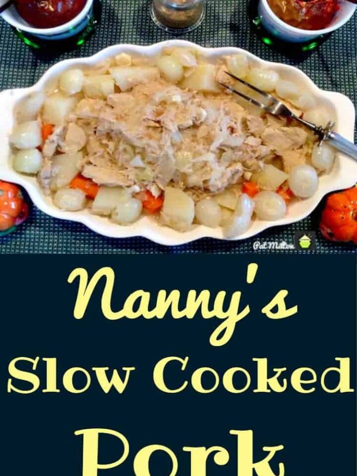 Nanny's Slow Cooked Pork with Sauerkraut. A really easy and delicious family favorite!