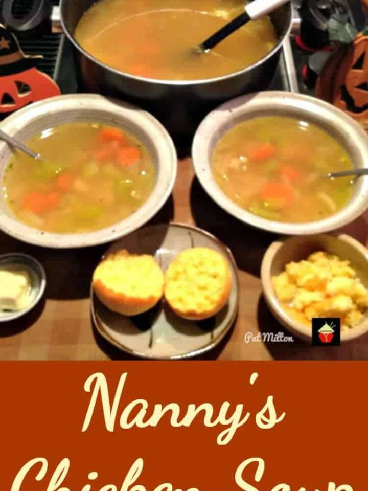 Nanny's Chicken Soup. Easy recipe and oh so delicious!