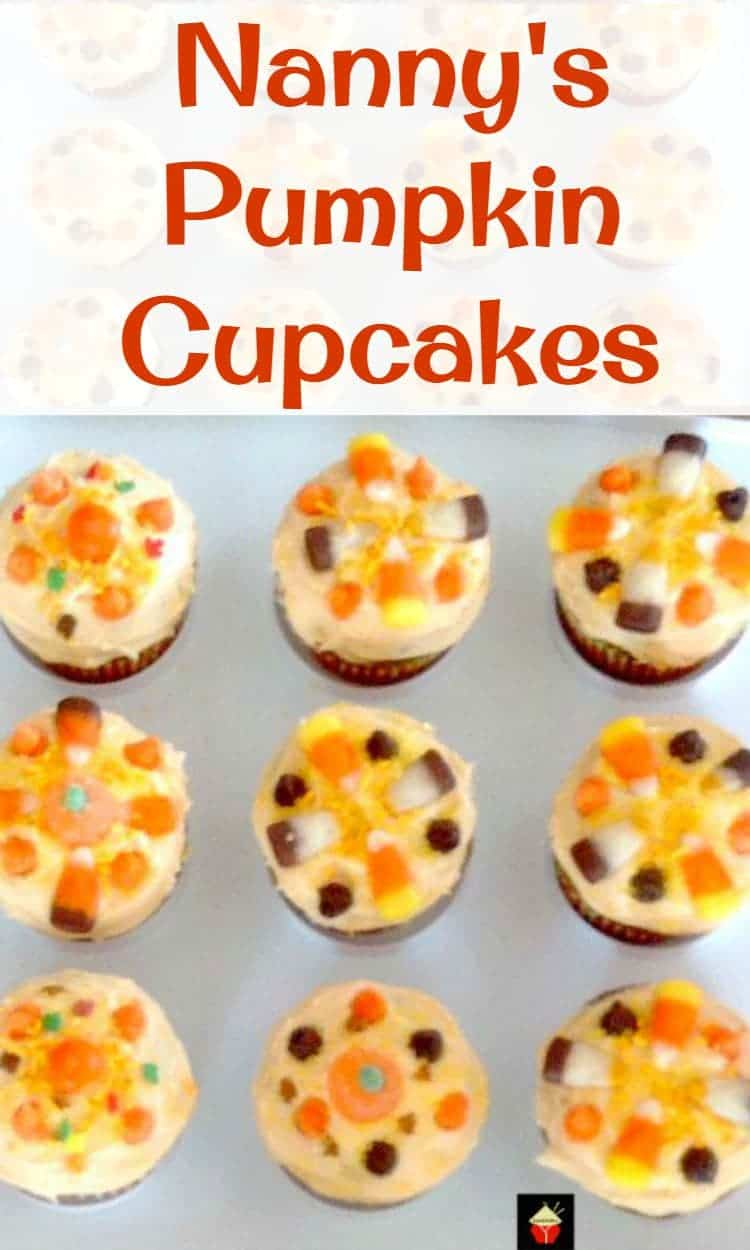 Nanny's Pumpkin Cupcakes. A very fun and easy recipe. Great for the young ones to help with decorating too!