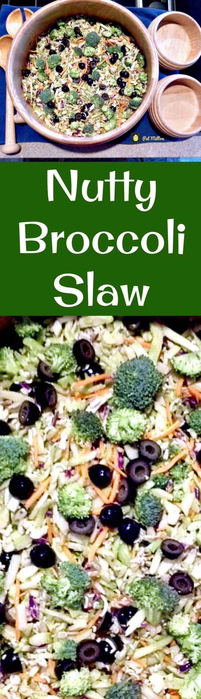 Nutty Broccoli Slaw. A quick and simple salad with broccoli, ramen noodles and other goodies and a yummy dressing to match!
