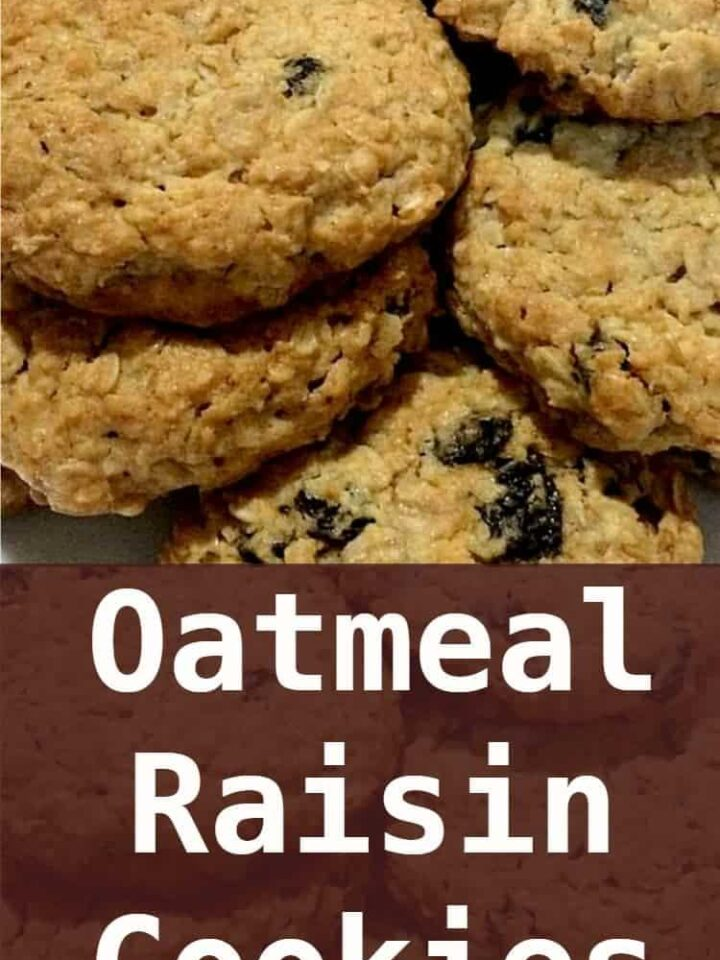 Oatmeal Raisin Cookies - These are a delicious cookie! Grab a cup of tea and enjoy!